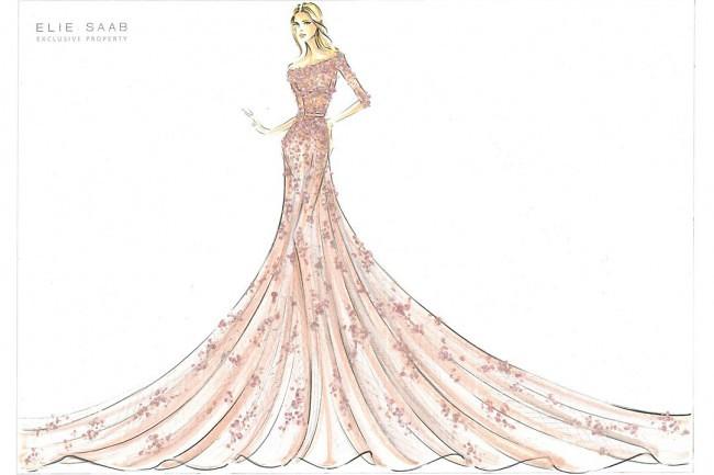 公主裙礼服裙设计图手绘