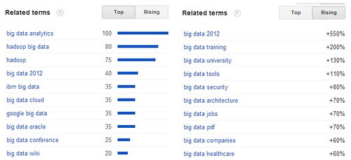 Big Data Related Terms 2012