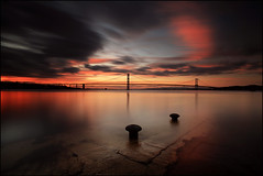 South Queensferry Sunset photo by angus clyne