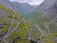 The famous mountainroad Trollstigen in Norway photo by Frans.Sellies