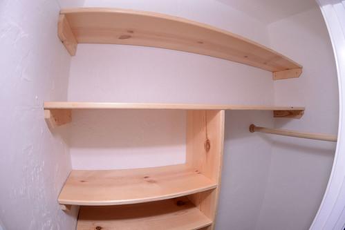 Pine Closet Shelving
