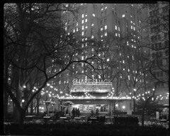 Shake Shack at Night, 8x10 Fuji HR-T X-Ray Film photo by Shawn Hoke