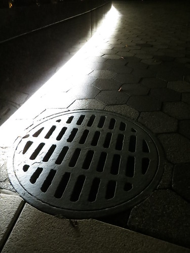 Drain at night