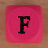 Coloured bead letter F