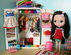 Our dolly wardrobe photo by *Karen M Andersen* (Ruby and Violet)