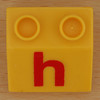 Educational Brick letter h