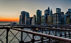 Winter Sunset on the Brooklyn Bridge photo by Photography by Carlos Martin