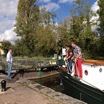 hotel barge randle at a lock