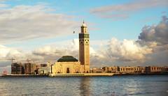 Marokko ,  Casablanca,Hassan II-Moschee, aus der Ferne , 1-19/1643 v photo by roba66 (thanks for +12.Million views )