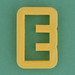 Pastry Cutter Letter E