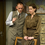Kate Fry and Mark L. Montgomery in THE LETTERS at Writers' Theatre. Photo by Michael Brosilow