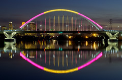 325/365-Bathed in color-The Lowry Avenue Bridge photo by Sue.Ann