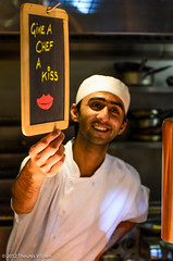 Give a chef a kiss photo by Theunis Viljoen LRPS
