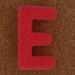 Sponge Letter E