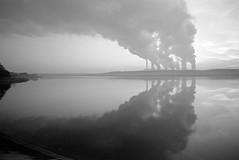 Power plant at dusk. photo by wojszyca