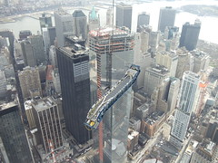 ThyssenKrupp Elevator - One World Trade Center Escalator Hoisting photo by TKE_Americas