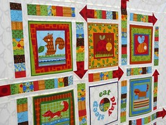 Play quilt - detail photo by Bloom and Blossom