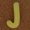 Sponge Letter J