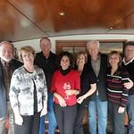 guests aboard barge Prosperite