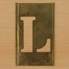 Brass Stencil Letter L