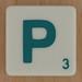 Scrabble Green Letter P