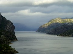 View into the Lysefjorden, Norway photo by Frans.Sellies