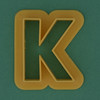 Pastry Cutter Letter K