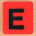Scrabble Rebus letter E