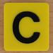 Scrabble Rebus letter C