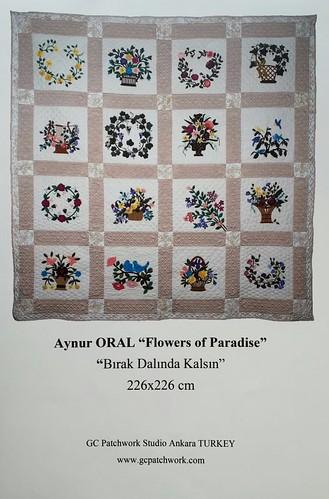 <b>Avrupa Patchwork Şampiyonası</b><div>Aynur Oral &quot; Flowers of Paradise&quot;</div>