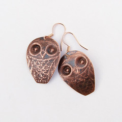 Copper Owl Earrings photo by Ruth Jensen