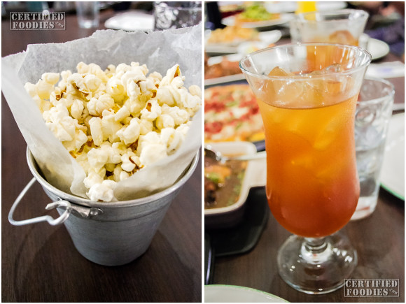 Cafe 1771 - Popcorn while waiting and freshly brewed iced tea