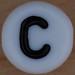 White Bead letter C