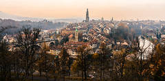 Old Town Bern Switzerland - Panorama view photo by mbell1975