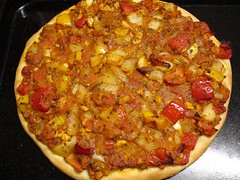 Low Calorie Masala Pizza by Sumitha at Kitchen Wonders