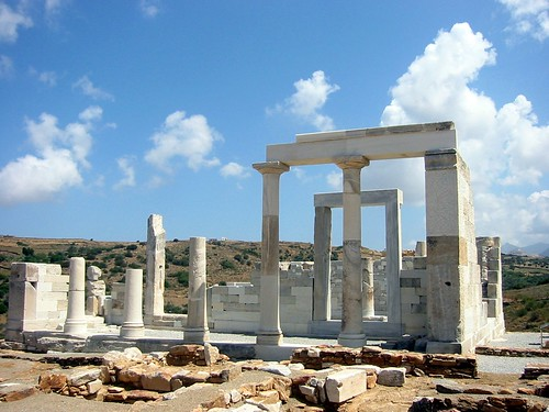 Restored Temple of Demeter, Naxos Greece
