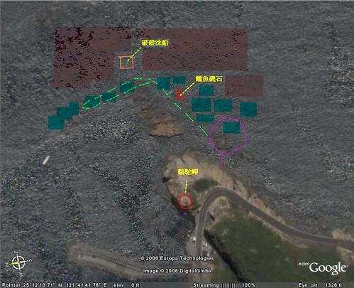 野柳駱駝岬潛水點路線圖講解