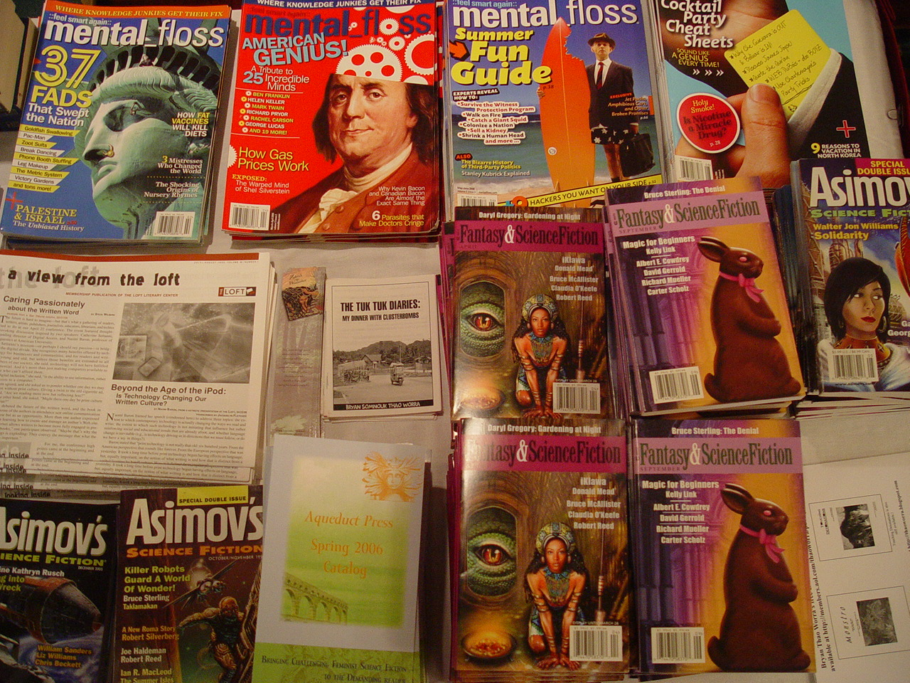 Great magazines were available for free at Diversicon!
