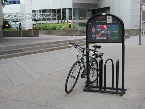Bike parking, with advertising