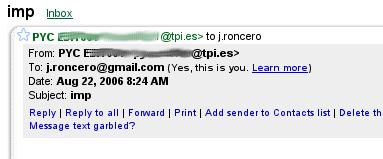 punto en gmail