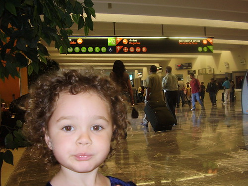 Lily in a Mexican airport