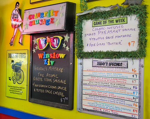 Hot Doug's menus