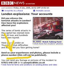 Pincha la imagen para leer la captura de pantalla pidiendo de la BBC pidiendo a los ciudadanos sus fotografías
