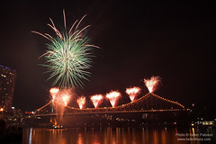 Fireworks on the Story Bridge 3