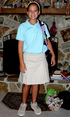 Christina, First Day of Fifth Grade, 9/5/06