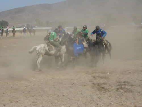 Buzkashi - just like rugby except the ball is a goat carcass, and the players ride horses / ブズカシ - ラグビーみたいなもんだけど、ボールの代わりにヤギの遺体で選手は馬に乗る