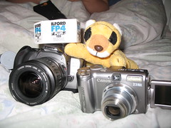 The new camera has been purchased. My daughter also got a new camera – the posh SLR on the left.