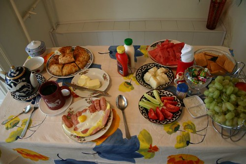 Breakfast at my homestay in Fergana...I almost ate all of it!
