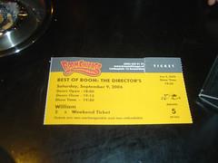 Boom Chicago Ticket