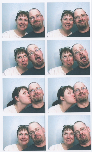 Al and Rebecca in a Photo Booth